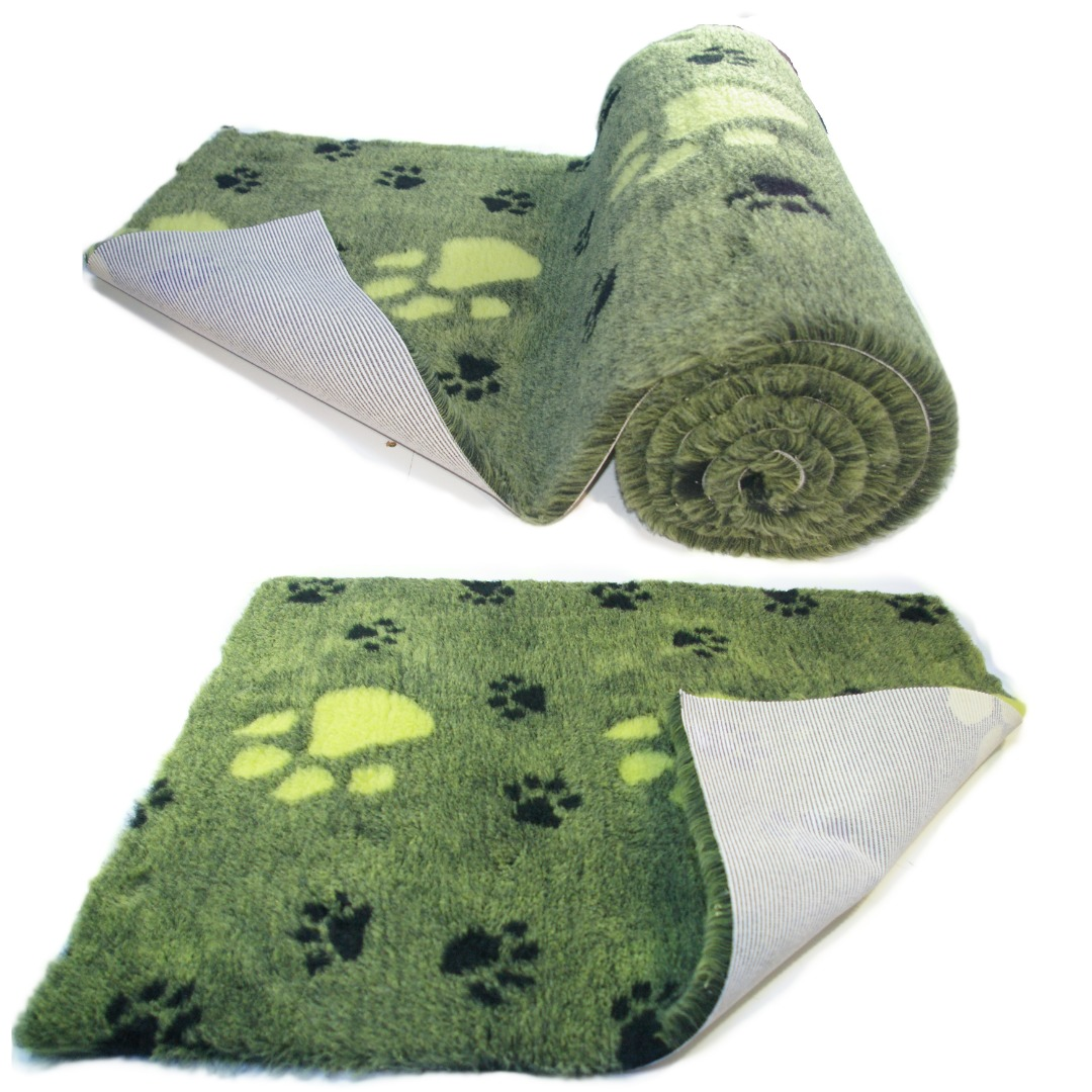 Lime Green  Large BlackPaw  High Grade Vet Bedding Non-Slip back Bed Fleece for Pets