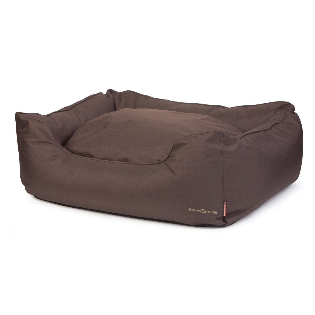 Picture of: Extreme Waterproof Dog Bed Brown Heavy Duty Ideal For Large Dogs