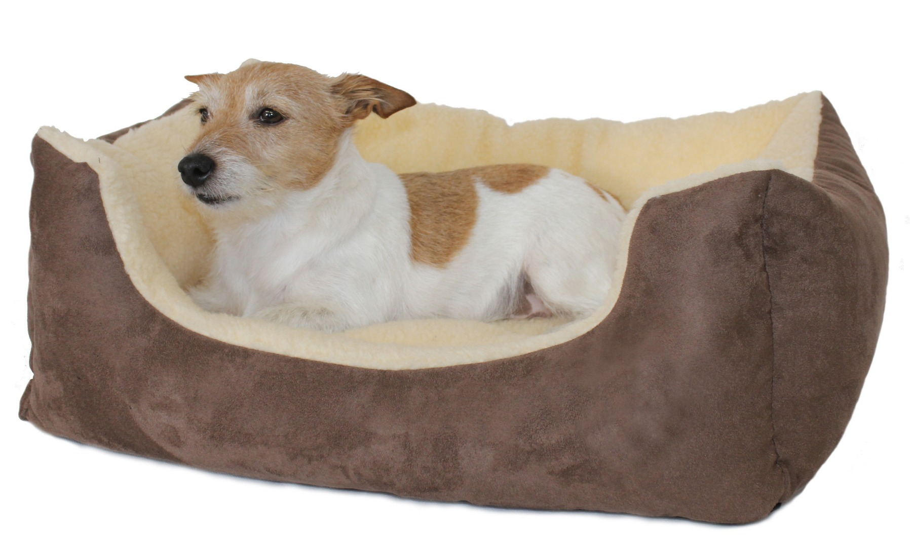 Rectangular Chelsea Kalahari Dog Bed Brown Range