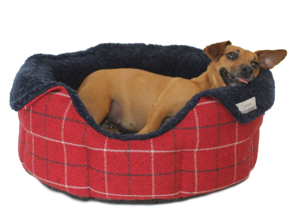 High-Sided Luxury Tweed Slumbernest Dog Beds