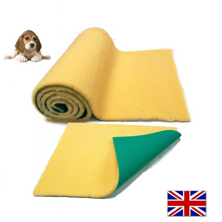 Traditional Wheat Cream Vet Bedding ROLL WHELPING FLEECE DOG PUPPY PRO BED