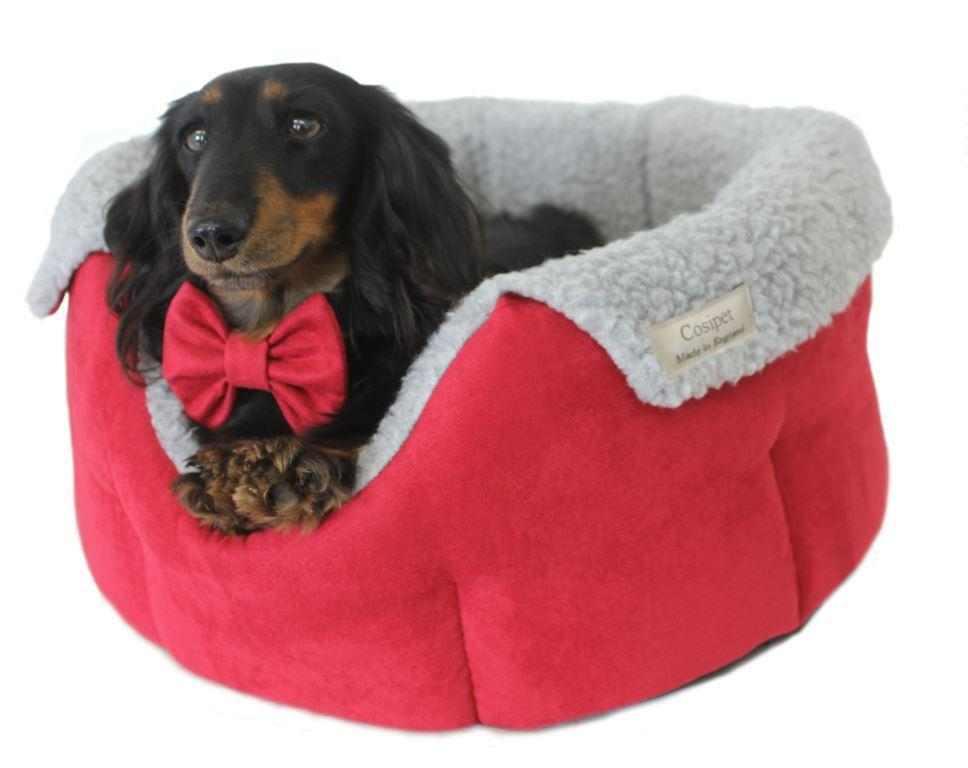 Cherry Luxury Chelsea Deep Style Slumbernest Dog Bed