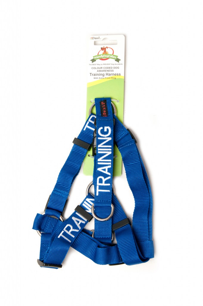 TRAINING DOG,  Dog Strap Harness Blue Colour Coded