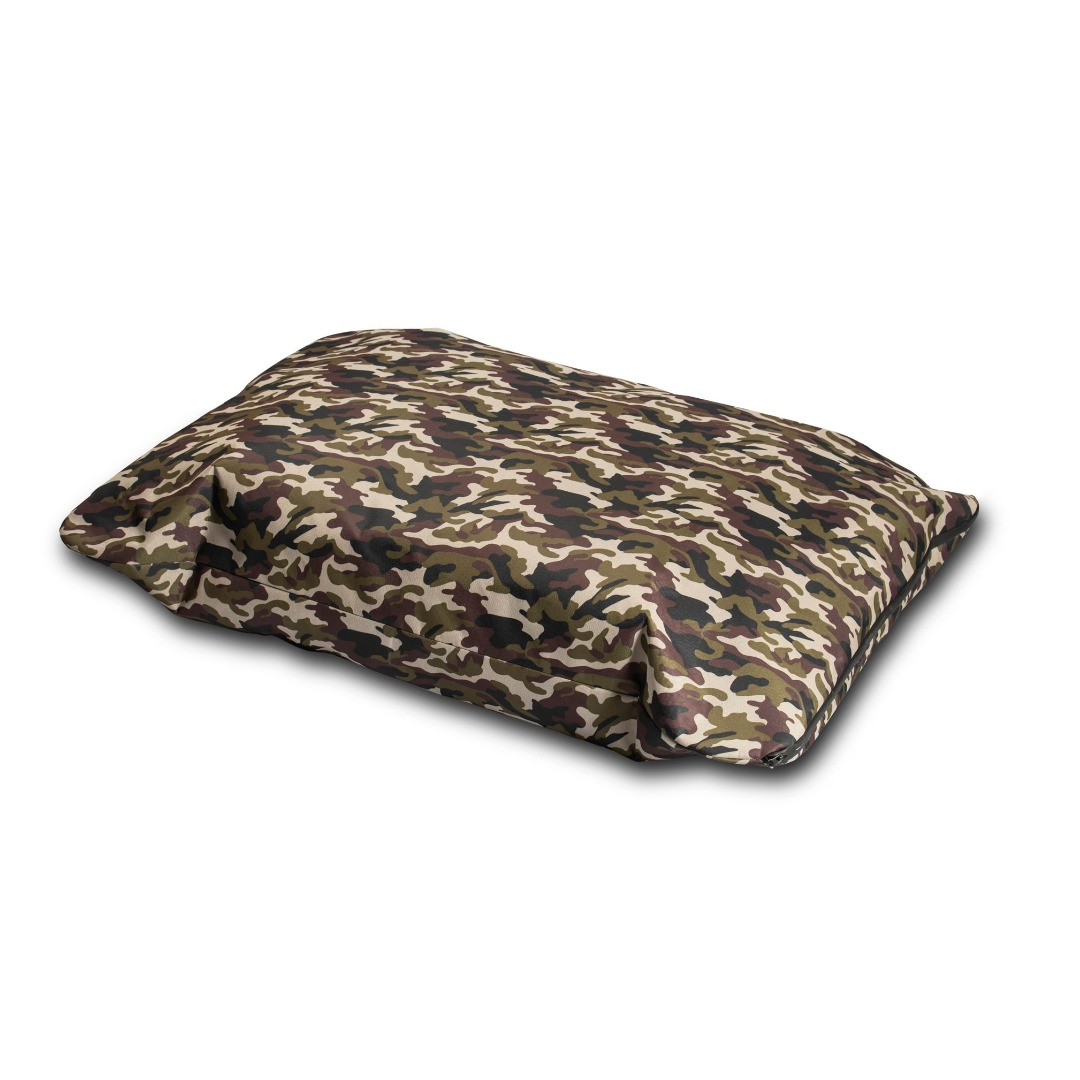 Action camouflage dog bed Fully waterproof, with a waterproof zip DURABLE BED