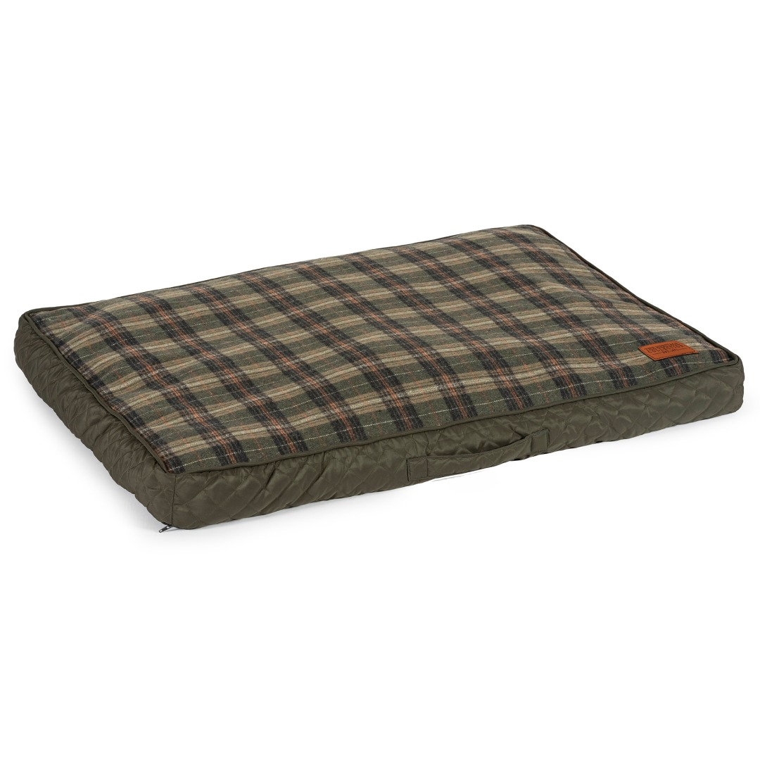 Ancol Quilted Dog Mattress memory Crumb Heritage Design Dog Bedding