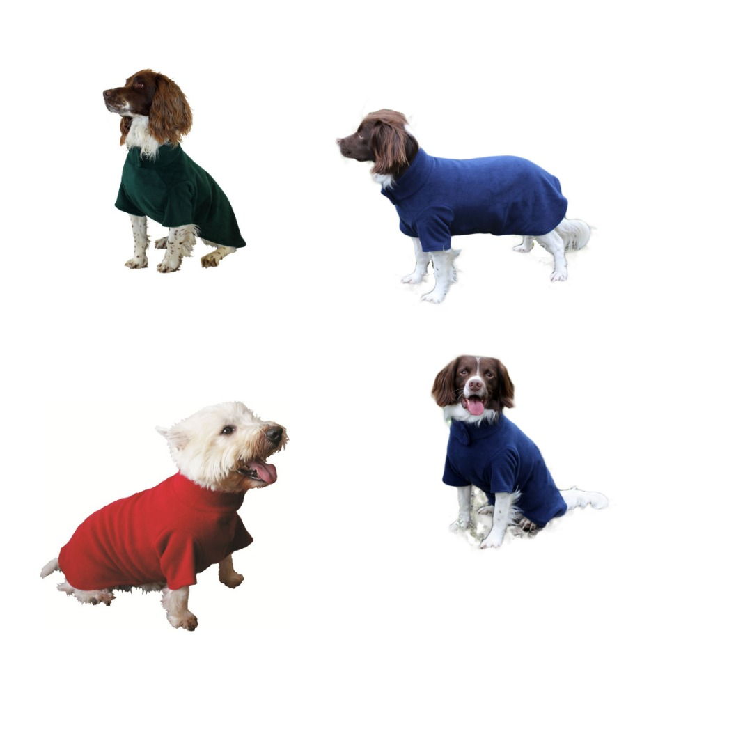 Snug All-over Cover Fleece  Dog Coat  easy to put on