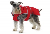 Ancol Muddy Paws Stormguard RED,  Waterproof Fleece Lined Dog Coat