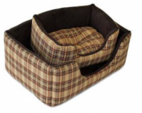 Reversible Chequered Comfy Dog Bed